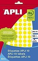 【APLI】手書き丸カラーラベル 126片 (AP-02730)