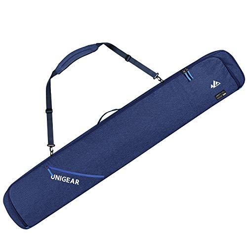 Unigear Skitasche Skisack doppelt gepolstert, Snowboardtasche Skibag Langlauf für Ski Snowblades, 165/175cm
