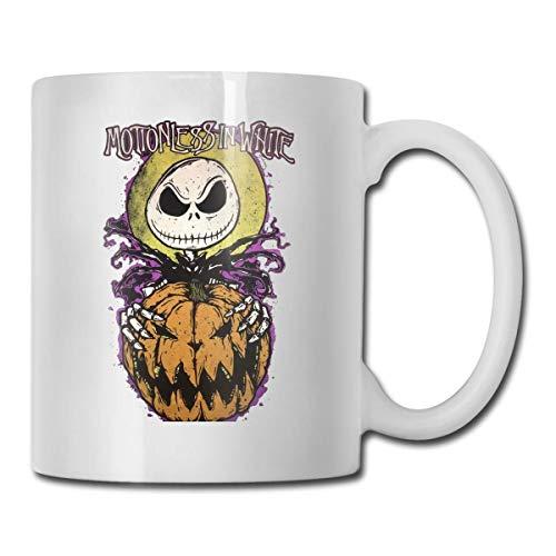 Taza inmóvil en blanco taza de café taza taza de té taza de vino taza de la novedad divertida taza de cerámica blanca grande taza de impresión de doble cara
