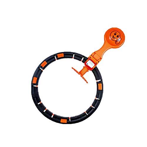 ZHANGda Adecuado para Deportes al Aire Libre,con Reproductor de música,Hula Hoop Inteligente,Hula Hoop Deportivo Desmontable,Equipo Deportivo para Adultos,no Deje Caer el Hula Hoop