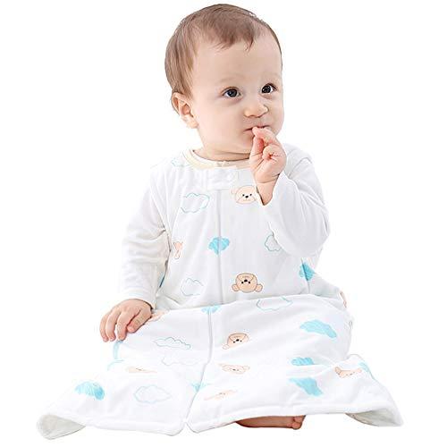 Michley Baby slaapzak deken pyjama licht baby meisje mouwen pyjama slapers 6-36 maanden Größe 56 (Alter: 6-12 Monate) wit