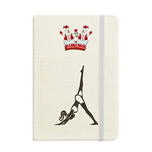 Pierna Motion Yoga Girl Keep Healthy Sports Christmas Snowman Notebook grueso tapa dura