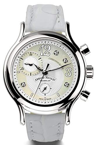 Reloj armand nicolet al3 a884aaa-an-p882bc8 cronógrafo cuarzo orologio...