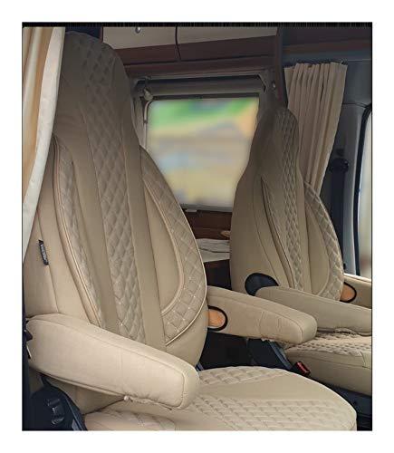 Maß Sitzbezüge kompatibel mit FIAT Ducato 250 Fahrer & Beifahrer ab BJ 2006 Farbnummer: PL405 (Beige)