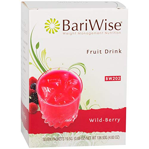 BariWise High Protein Powder Fruit Drink (15g Protein) / Low-Carb Diet Drinks - Wildberry (7 Servings/Box) - Fat Free, Low Carb, Low Calorie, Sugar Free