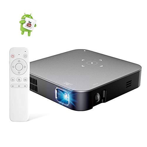 MSG ZY Proyector de teléfono móvil Android 7.1, proyector de Oficina 4K / HDMI/TF/AV/USB, proyector inalámbrico, proyección de Soporte para Android/iOS/Windows