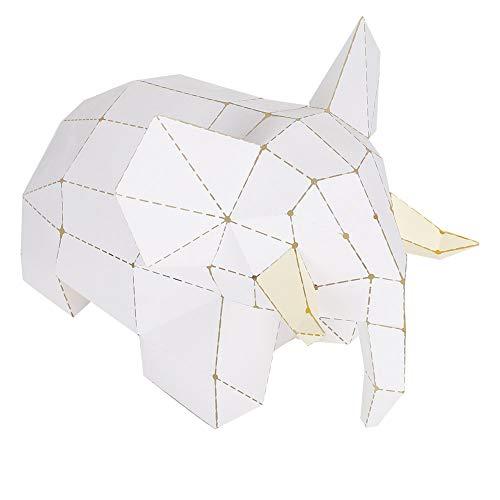 Kit de origami elefante 3D colorido para decoración del hogar DIY Boardattack Papercraft