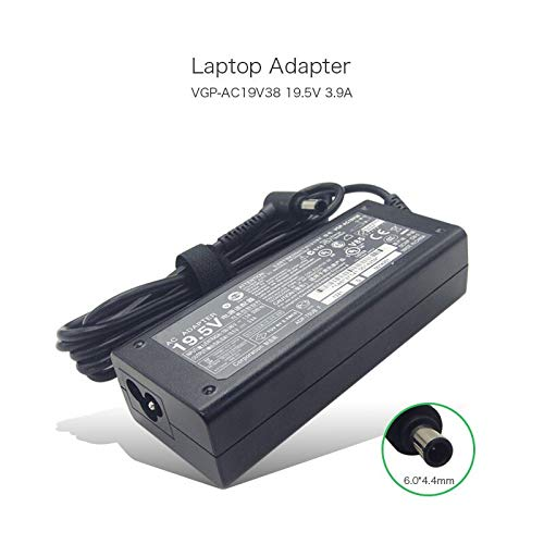 szhyon VGP-AC19V38 19.5V 3.9A 6.0 * 4.4mm 76W AC Adapter Charger compatible with Sony Vaio PCG-FR PCG-GRS PCG-GRX Series VGP-AC19V37