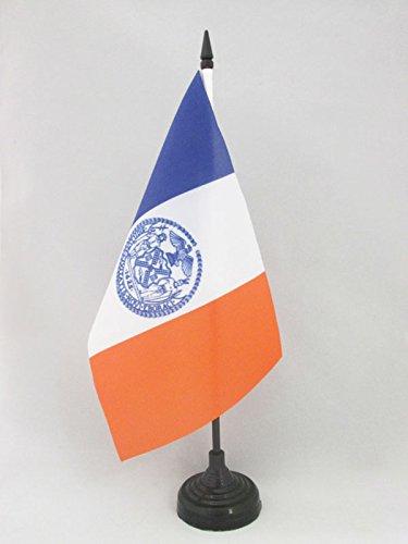AZ FLAG Drapeau de Table New York City 21x14cm - Petit Drapeaux DE Bureau amérain - USA 14 x 21 cm