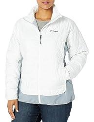 Columbia Women's Jackets, White/Trade Winds Grey, Medium
