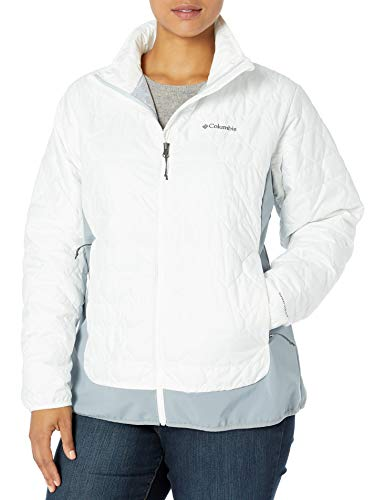 Columbia Women's Extended Plus Size Jackets, White/Trade Winds Grey, 2X
