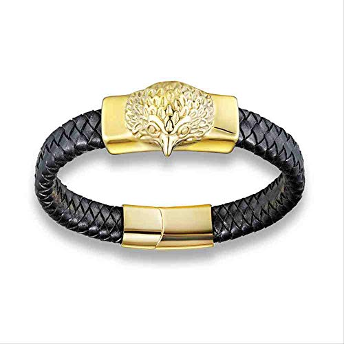 HFJ/&YIE/&H High Quality Jewelry Mens 316L Stainless Steel 18k Gold Plated Heavy And Chunky Chain Shiny Bracelet