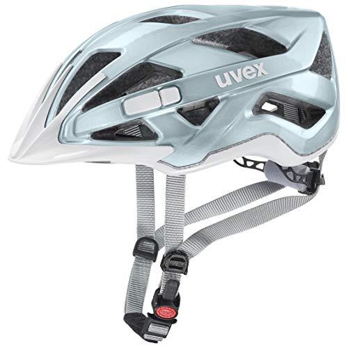 Uvex Unisex– Erwachsene, active Fahrradhelm, aqua white, 52-57 cm
