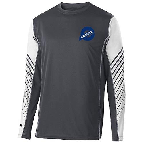 Ebonite Arc Hemd, langärmlig, Carbon/Weiß, Größe S