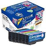 ジット リサイクルインク JIT-E70L6P 1パック( 6色)(エプソン IC6CL70L互換) IC70シリーズ