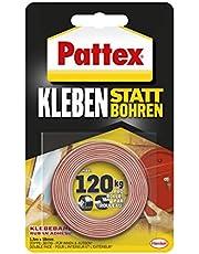 Pattex Lijmen in plaats van boren, plakband, extra sterk dubbelzijdig plakband, dubbel plakband voor montagewerkzaamheden binnen en buiten, wandbevestiging zonder boren, 19 mm x 1,5 m