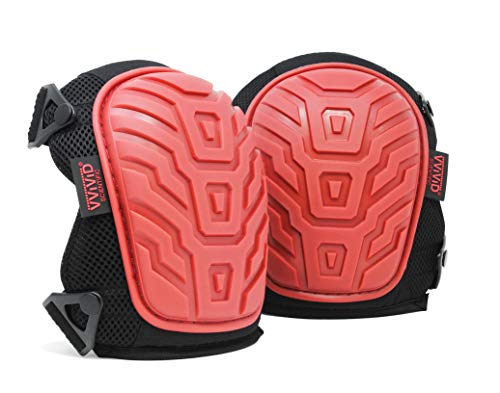 VViViD Heavy-Duty Knee Pads (Double Strapped Gel Kneepads)