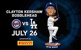 Clayton Kershaw Batting Pose 2017 Los Angeles Dodgers Stadium Promo Bobblehead SGA