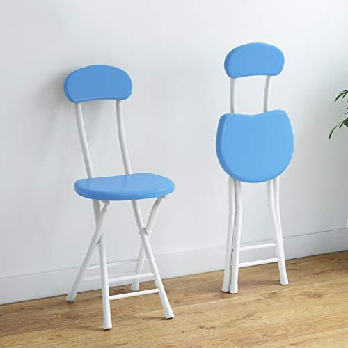 2 Packed Dining Chair Klappstuhl Home Outdoor Bar 31 * 25 * 79cm (5 Farben) (Farbe : Blau, UnitCount : 6 Packs)
