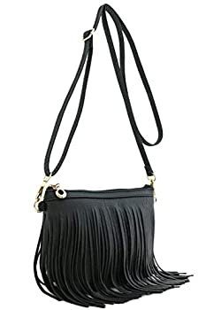 fringe black bags