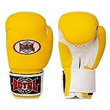 Guantes de boxeo de diseño único, guantes de entrenamiento para boxeo y pesca, guantes de entrenamiento para hombre y mujer, color amarillo, 38 ml