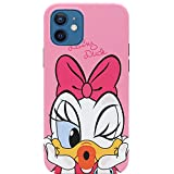 MC Fashion iPhone 12 Case, iPhone 12 Pro Case, Cute [Kiss Series] Vibrant Matte Cartoon Case, Slim Fit Black Bumper Full-Body Soft TPU Case for iPhone 12 and iPhone 12 Pro 6.1 inch 2020 (Daisy Duck)