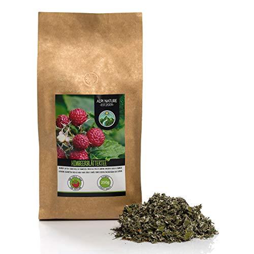 Himbeerblättertee (250g), Himbeerblätter geschnitten, schonend getrocknet, 100% rein und naturbelassen zur Zubereitung von Tee, Kräutertee, Himbeerblätter Tee