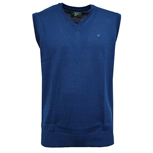 Beverly Hills Polo Club 6288K Gilet Uomo Blue Sleeveless Sweater Man [M]