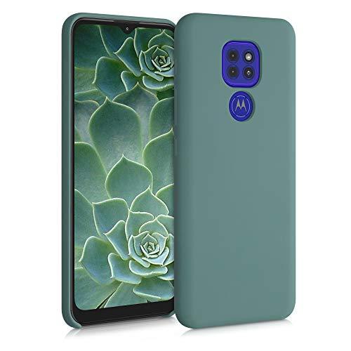 kwmobile Funda Compatible con Motorola Moto G9 Play/Moto E7 Plus - Carcasa de TPU para móvil - Cover Trasero en Verde Bosque