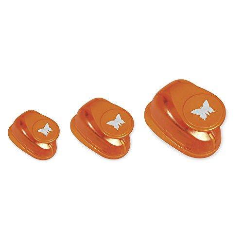 Rayher Hobby 69104000 Motivstanzer Set Schmetterlinge, farblich sortiert