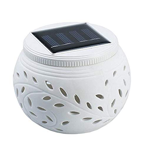 SUNASQ Lámpara solar al aire libre llevó la luz colorida ahueca hacia fuera la lámpara de cerámica de la lámpara de
