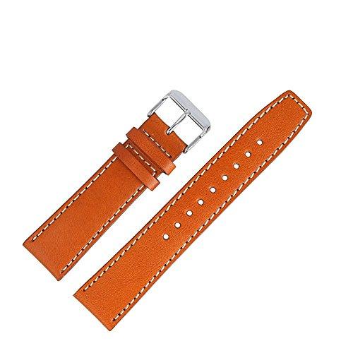 Tommy Hilfiger Uhrenarmband 22mm Leder Braun Glattleder - Uhrband 679301571
