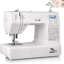 COMPUTERIZED SEWING MACHINE: Uten 2685A sewing machine is an easy-to-use computerized sewing machine that is built for durability and flexibility. With its 200 unique built-in stitches, including 100 letters and numbers stitches and 8 one-step auto-s...