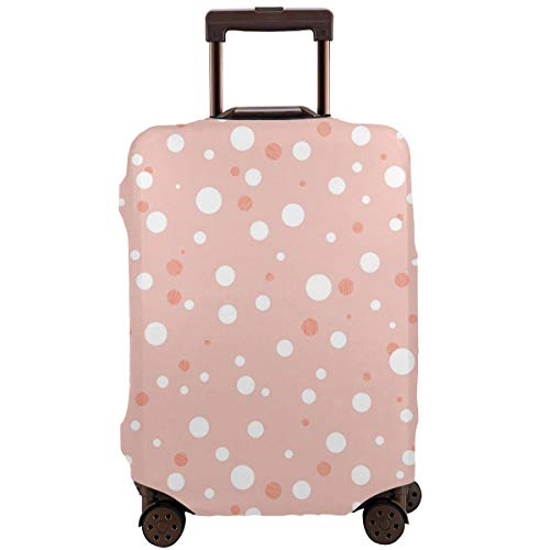 SCOCICI Luggage Cover Geometric Image with Lines Dots Circles Rounds Industrial Print Protective Travel Trunk Case Elastic Luggage Suitcase Protector Cover