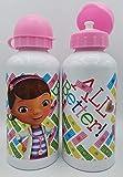 Una Botella de Agua de Aluminio, cantimplora a Prueba de Fugas sin BPA para Levar a la Escuela y Deportes el Termo 500ml para niños y niñas (Blanco-niñ)