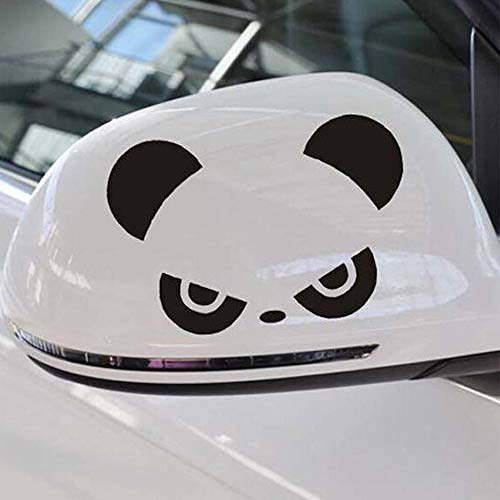 Aishang666 Fun Popular Cool Cute Fashion Panda car Stickers Fashion Design Rear View Decoration Stickers car Side Mirror Decals 3D aishang666 (Color Name : Black)
