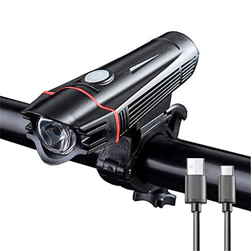 DW007 Fahrradlicht LED Set - USB Wiederaufladbare Frontlicht Wasserdicht Fahrradbeleuchtung Montieren Sie Es An Ihrem Fahrrad Roller Kinderwagen Rollstuhl Oder An Einem Beliebigen Ort,1