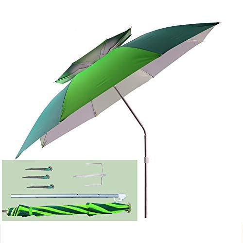 2 Tier Auto Tilt Patio Umbrella,Outdoor Beach Umbrella DOUBLE VENTED,Adjustable Sunbrella Umbrella Shelter For Sun Rain Protection