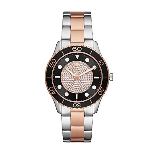 Michael Kors Women's Runway Quartz Watch with Stainless Steel Strap,...