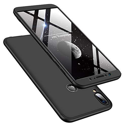DECHYI compatibles para Funda ASUS Zenfone MAX Pro M1,Cubierta + Cristal Templado Matte Ultra Slim PC Hard-Protección del Cuerpo Scratchproof Cubierta-Negro