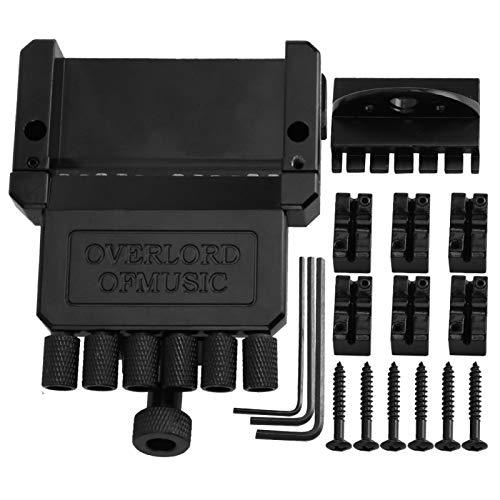 Puente de guitarra eléctrica negro Material de aleación de calidad Fácil de...