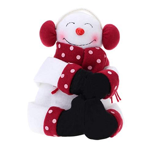 CAIRLEE Funda para botella de vino con diseño de muñeco de nieve, para decoración del hogar y la cocina