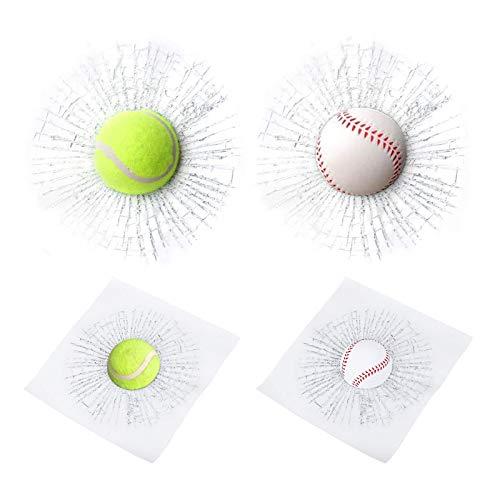 Pranks 3D Glass Cracked Glass Sticker Baseball Breaking Glass Stickers...