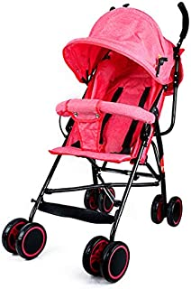 baby plus BP7731 Light Weight Stroller, Red - Pack of 1