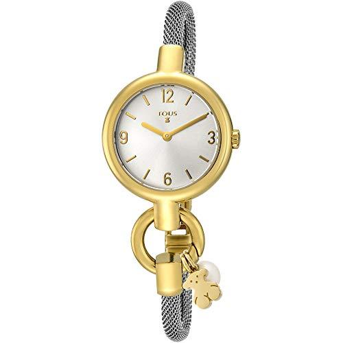 Reloj TOUS Hold Charms de acero IP dorado con correa de acero Ref:800350860