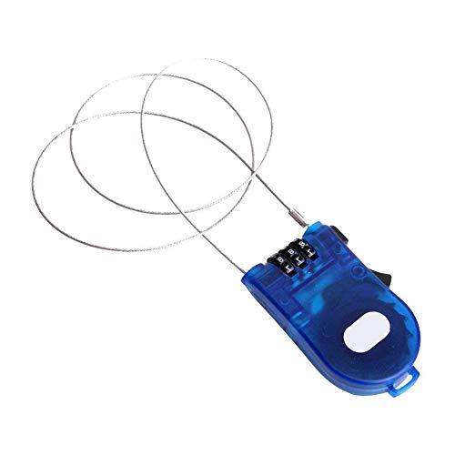 AAGOOD 3 pies de Cable retráctil cerraduras de Bloqueo de