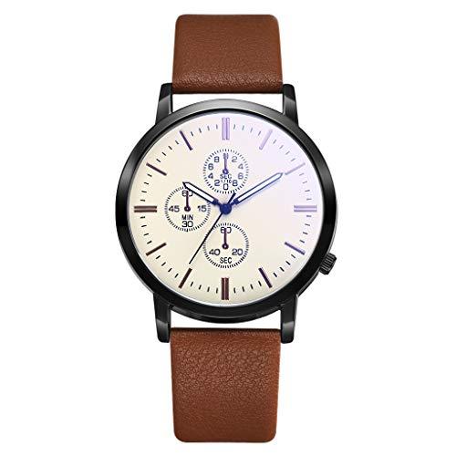 UINGKID Collection Unisex-Armbanduhr Herren unauffällige Geschäfts-einfache Art und Weise gefälschte DREI Augen wählen Persönlichkeitsuhr
