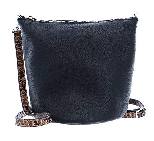 Calvin Klein Python Mini Bucket Python Black