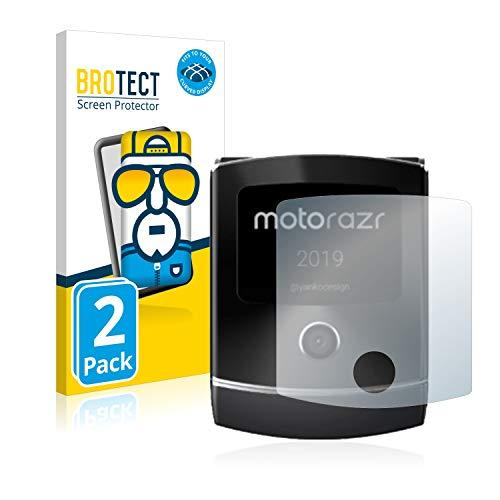 BROTECT Full-Cover Schutzfolie kompatibel mit Motorola Razr 2019 (Vorderes Bildschirm) (2 Stück) - Full-Screen Bildschirmschutz-Folie, 3D, Kristall-Klar