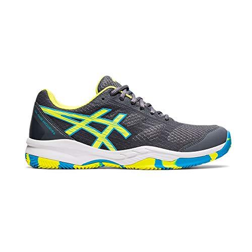 Asics Gel-Padel Exclusive 6, Indoor Court Shoe Hombre, Carrier Grey/Sour Yuzu, 42.5 EU